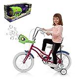 FXQIN Automatische Bubble Blower Maker Seifenblasen Maschine für Fahrrad Kinder Seifenblasenmaschine Spielzeug Bubble Machine Maker mit 800+ Bubbles Pro Minute
