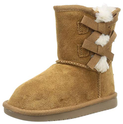 Koolaburra by UGG Girls' Victoria Short Boot Fashion, Chestnut, 09 Toddler US Toddler