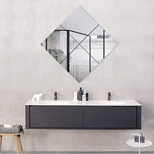 MiraHouse自由組合鏡全身鏡貼る鏡DIY鏡姿見鏡ガラスミラー枠無し鏡4枚セット(35*35)