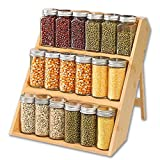 Spice Rack Organizer for Cabinet ,Bamboo Spice Rack...