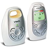 VTech DM223 Audio Baby Monitor with up to 1,000 ft of Range, Vibrating Sound-Alert, Talk-Back...