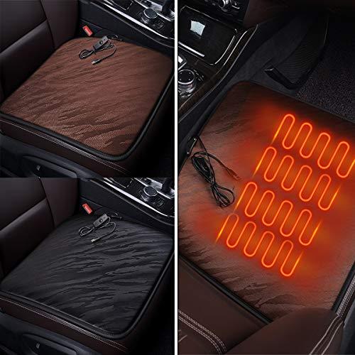 DyNamic Auto Verwarming Stoelhoezen Kussen Elektrische Deken Heat Down Pluche Auto Verwarming Pad Home - Koffie