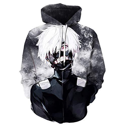 fahut Cosplay Tokyo Ghoul 3D Felpa con Cappuccio Felpa Anime Kenken Mirin Saiko Stampa 3D Giacca con Cappuccio Giapponese-Style20_4XL