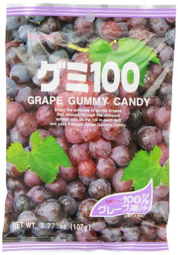 Kasugai Gummy Candy, Grape, 3.77-Ounce Packages (Pack of 12)