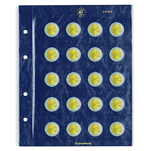 Leuchtturm Münzblätter Vista, für 2-Euro-Münzen, 2er Pack
