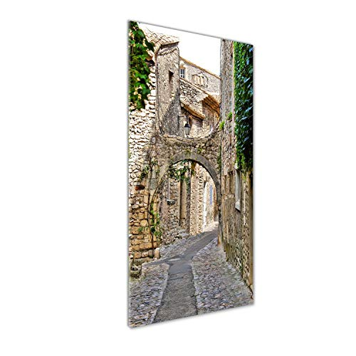 Tulup Impresión en vidrio - 50x125cm - Cuadro sobre Vidrio - Pinturas en Vidrio - Cuadro en Vidrio - Impresiones sobre Vidrio - Cuadro de Cristal - Monumentos Y Arquitectura - Verde - Provence Francia