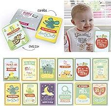 BabyMoments Cards by Mimuselina | Tarjetas de Logros e Hitos del Bebé, Regalo Original para Recién Nacidos, Tarjetas Bebé de Momentos para Recordar, Ideal Regalo Babyshower, Bilingüe: Español-English