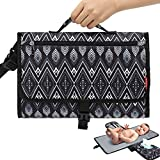Portable Diaper Changing Pad, Portable Changing Pad with Built-in Head Cushion, Baby Changing Pad Portable with Smart Wipes Pocket, Travel Changing Station Babys Kit for Boy & Girl Newborn Baby Gifts