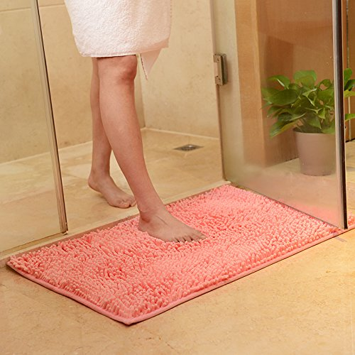 PEIWENIN-Matelas de porte de salle de bains enjoliveur de baignoire salle de séjour salon de lavage de l'eau tapis de la patte, 80 * 160cm, rose