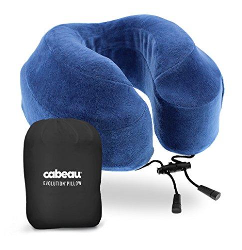 Almohada de viaje con espuma de memoria Cabeau Evolution - La mejor almohada para cuello con soporte para cabeza y...