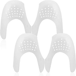 2 Protectores Escudos Antiarrugas de Zapatos Reductor de Dedos de Pie, Prevendedores de Pliegues Abolladura de Zapatillas de Deporte Zapatos para Hombres 7-12/ Mujeres 5-8 (Blanco)