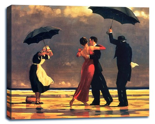 Singing Butler by Jack Vettriano Stretched Canvas Wall Art Print - 28x22in
