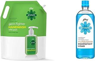 Godrej Protekt Masterchef Germ Protection Handwash - 1500ml & Multipurpose Disinfectant Liquid, Aqua - 500ml