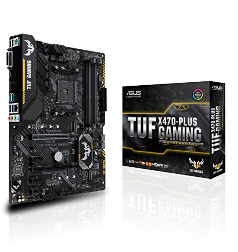 Asus TUF X470-PLUS GAMING AMD AM4 X470 ATX - Placa base gaming con Aura Sync RGB iluminación LED, DDR4 3466MHz , 32Gbps M.2, y USB 3.1 Gen 2