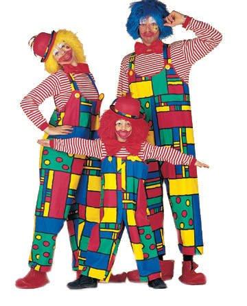 Damen-Kostüm Latzhose Clown, Gr. 48 PREISHIT