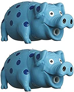MultiPet Goblets Pig latex Dog toy Assorted Colors Size:Pack of 2
