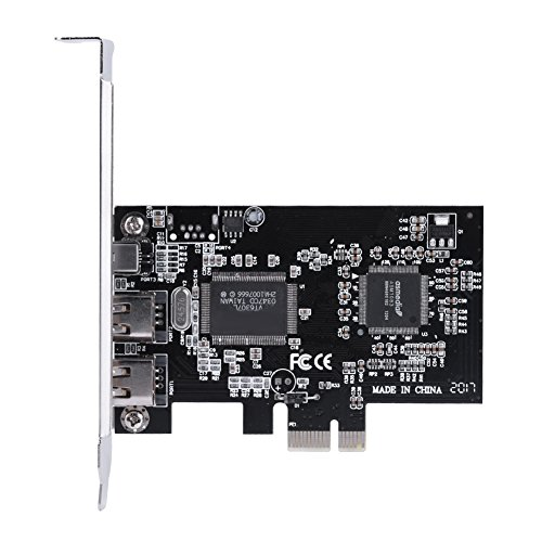 Gojiny PCI-E-Controller-Karte Hochgeschwindigkeits-PCI-Express-Firewire 1394A Ieee 1394-Controller-Karte PCIE-Firewire-Adapter mit Firewire-Kabel Unterstützt Hot-Swap Plug-and-Play