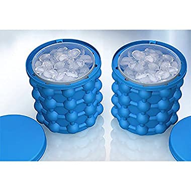 RUVINCE Silicone Ice Cube Maker Genie - The Revolutionary Space Saving Ice Cube Maker BPA-free
