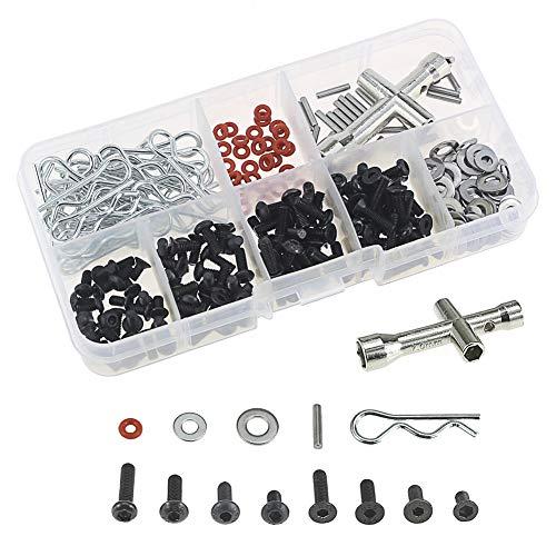 AGGER RC Schrauben Kit Reparatur Werkzeugkasten Hardware Befestigungen für 1: 8 1/10 RC Auto Ersatz 270St