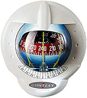 Nautos 25487 - Contest 101 Compass- Mount Inclined 10 to 25 Degrees-White Compass with RED Card- PLASTIMO 64419