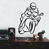 wZUN Motocicleta Creativa decoración del hogar calcomanía de habitación para niños Vinilo Mural Sala de Estar decoración del hogar Estilo nórdico 42X51cm