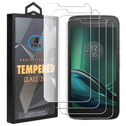 Ycloud 4 Pack Vidrio Templado Protector para Motorola Moto G4 Play, [9H...