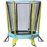 Hudora Safety 140 - Cama elástica Infantil para jardín (también para Interiores), Color Verde y Azul