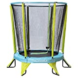 HUDORA Kinder-Trampolin Kindertrampolin Safety 140 Garten Indoor geeignet, grün/blau
