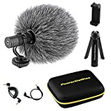 PowerDeWise - Unidirectional On-Camera Microphone Kit with Tripod, Phone...