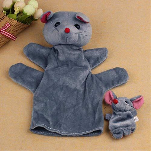 ARTFFEL Animal Dedo 2pcs ratón Suave Animal Infantil de Marionetas del bebé Muchacho Juguete de Peluche Juguetes for niños Juguetes for los niños Juguetes de bebé Precioso Natural