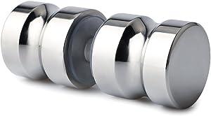 Alise Sliding Shower Door Knob Bathroom Door Handle Pull Round Back-to-Back,L5000 Solid SUS304 Stainless Steel Polished Chrome