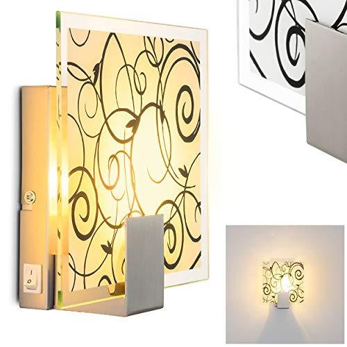Lampada da parete mod.'Floral' - E14 1x 40 Watt