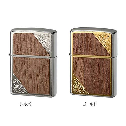 こちらの商品は【 ゴールド・2GW-WOOD 】のみです。 高級ライターの代表!ZIPPOのオイルライターです ZIPPO(ジッポー) オイルライター メタルウッド貼り 〈簡易梱包
