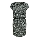 ONLY Damen ONLMAY Life S/S Dress NOOS Kleid, Chinois Green/AOP:Black Leo, S