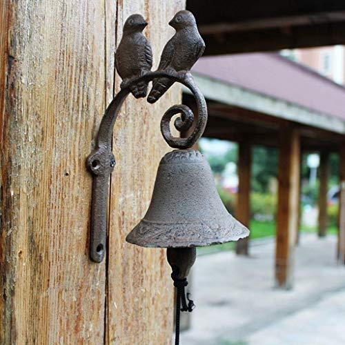 Beeld beeld Dierlijke muur, Smeedijzeren deurbel Amerikaanse landelijke stijl deurbel innovatieve vakmanschap deurbel karakter bungalow decoratie 15x23x95 Dierlijke muur Figurines