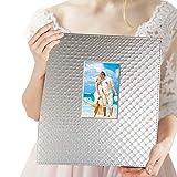 Album fotografico grande 10x15 cm 600 foto - Elegante album fotografico in pelle slip-in orizzontale e verticale 10x15 cm immagini con finestra, argento