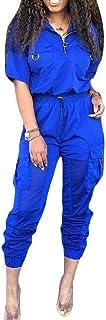 FSSE Women's Cargo Shirt Jogger Pants 2 Pcs Outfits Casual Athletic Tracksuit Sets
