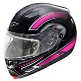 Fulmer, SN-M2B21D22, Adult Full Face Modular Snowmobile Helmet w/Dual Pane Shield - Pink Drift, XS