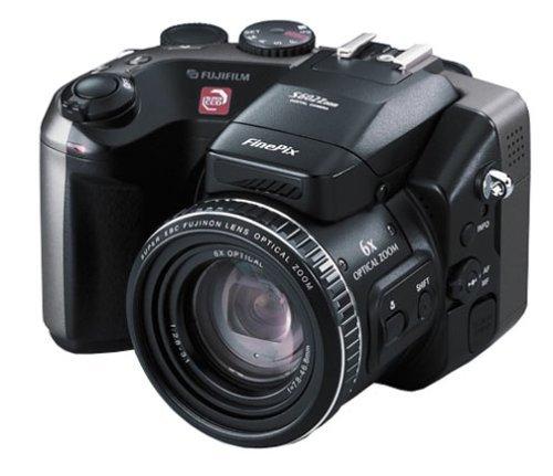 Fujifilm FinePix s602ズーム–デジタルカメラ–コンパクト–3.1Mpix / 6.0Mpix (Interpolated)–光学ズーム: 6x–サポートメモリ: CF、SM–ブラック、メタリックグレー