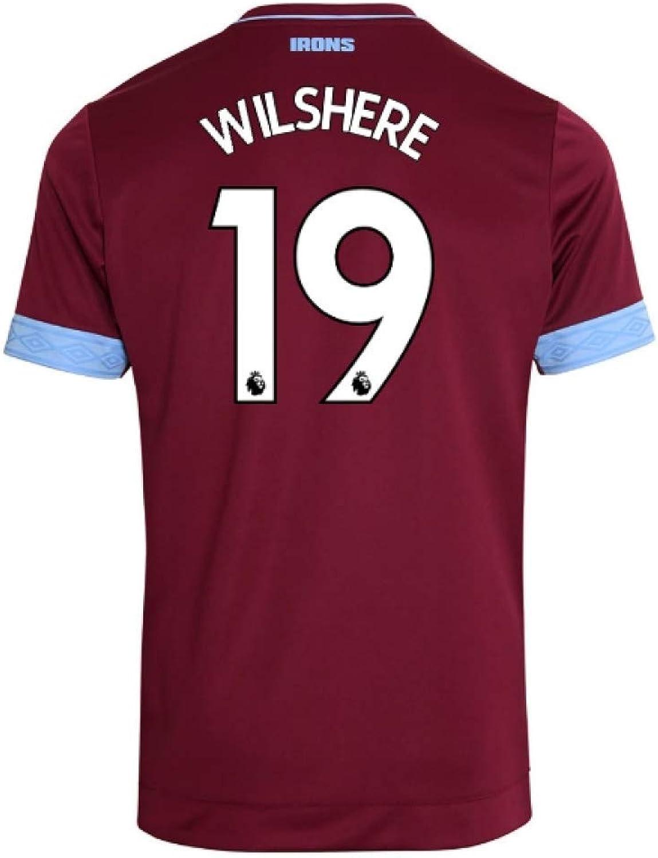 2018-2019 West Ham Home Football Soccer T-Shirt (Jack Wilshere 19)