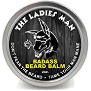 Badass Beard Care Beard Balm - The Ladies Man Scent, 2 Ounce - All Natural Ingredients, Soften Hair, Hydrate Skin to Get Rid of Itch and Dandruff, Promote Healthy Growth
