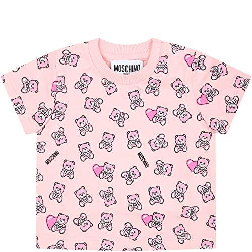 Moschino - Camiseta rosa para bebé con osito de peluche – 6...