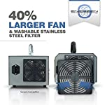 Enerzen High Capacity Commercial Ozone Generator 11,000mg Industrial Strength O3 Air Purifier Deodorizer Sterilizer (11… 13 Size(inches): 7.75 (H) x 9 (W) x 6.75 (D)