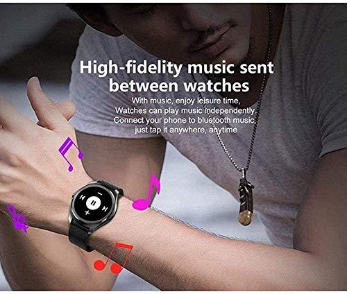 Reloj inteligente de carga magnética de frecuencia cardíaca sueño Sedentario pantalla redonda correa de repuesto multidial con paso Smartwatch-B-B