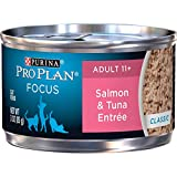 Purina Pro Plan Senior Pate Wet Cat Food, FOCUS Salmon & Tuna Entree - (24) 3...