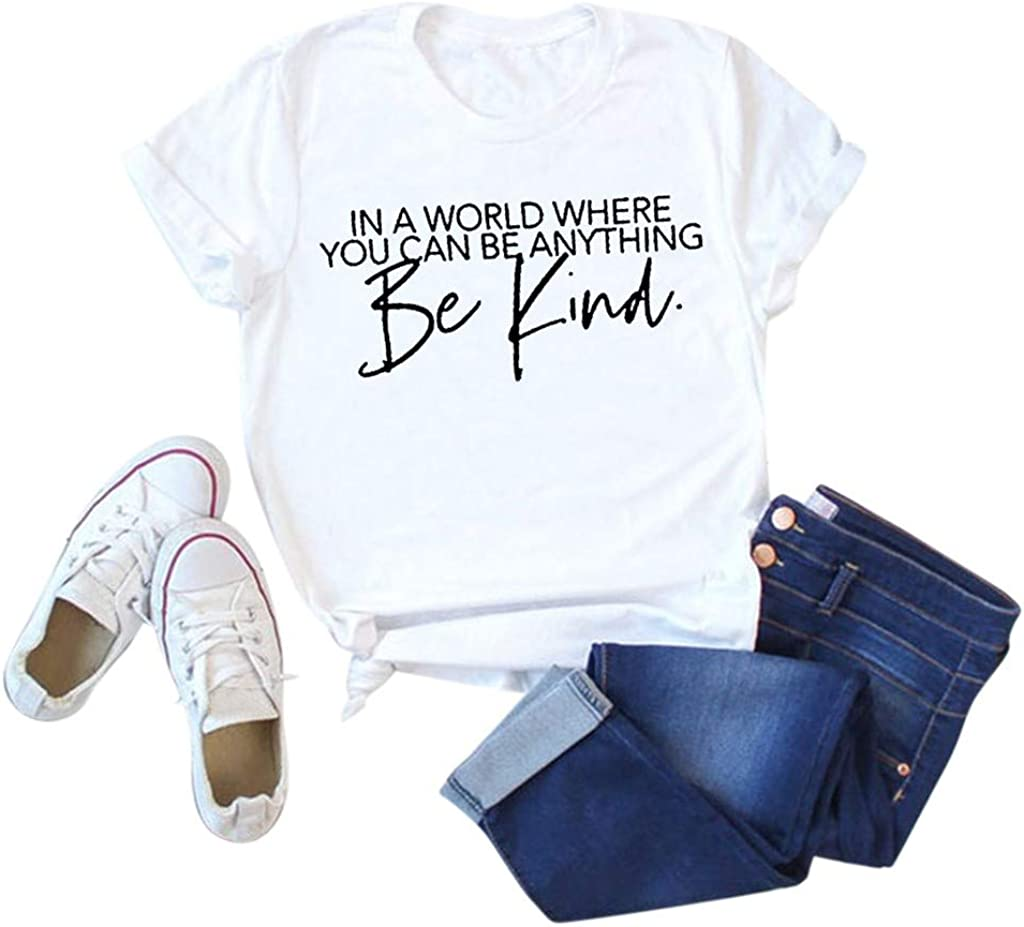 Tshirts For Womens,Womens T Shirts Cute Graphic Tees Summer Funny Short Sleeve Tops T-Shirt Tunics Blouses