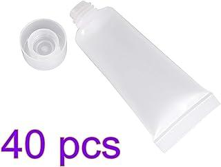 Lurrose 40PCS vuoto bottiglia ricaricabile, tubi di plastica trasparente imballaggio shampoo detergente viso trucco campio...