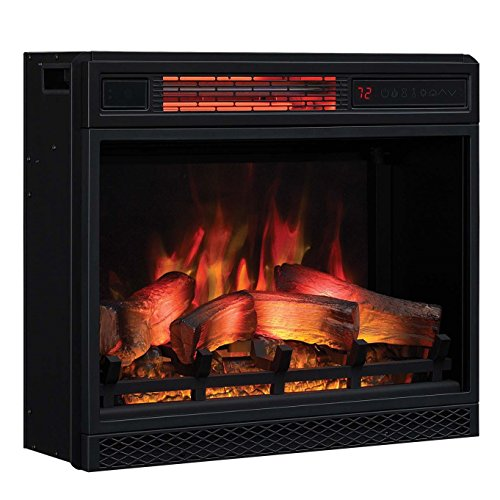 Classic Flame 23II042FGL 23' 3D Infrared Quartz Electric Fireplace Insert with Safer Plug and Sensor, 1500 W, 23 inches