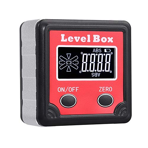 Proster Magnetic Spirit Level Digital Angle Gauge Inclinometer Digital Level Box Protractor Bevel Box with Backlight LCD Display