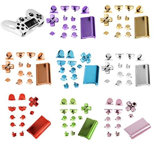 Total de Cromo Reemplazo Controlador de Hidro Mascaras Kit Mod Para PS4 Color Oro